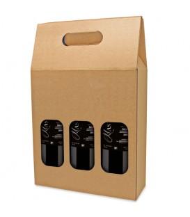 Carton 3 bouteilles naturel fenêtre
