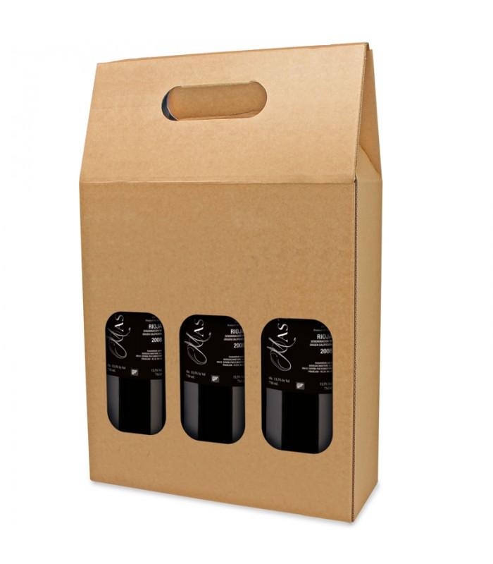 carton 3 bouteilles naturel fen tre mediavina. Black Bedroom Furniture Sets. Home Design Ideas