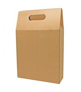 Emballage carton 3 bouteilles naturel