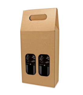 Carton 2 bouteilles naturel fenêtre